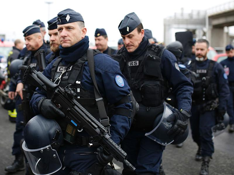 French police secure the area at Paris Orly airport in the aftermath of the shooting: AFP/Getty