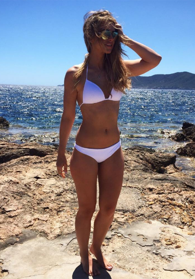 Vogue Williams has been posing up a storm in Ibiza in the week leading up to Pippa's wedding. Photo: Instagram