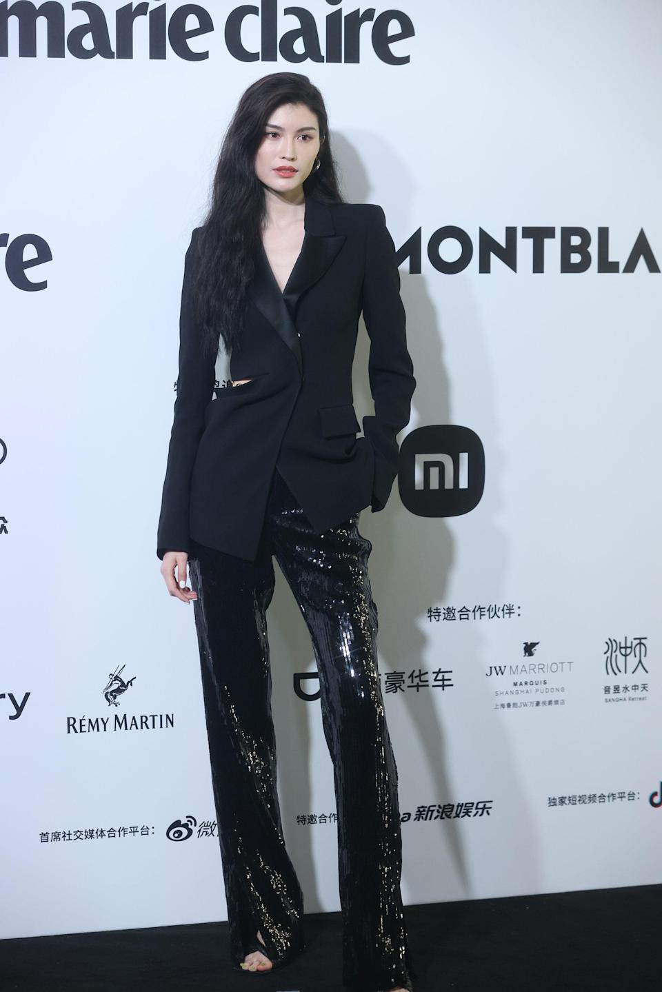 <p>WHO: Sui He</p> <p>WHAT: Versace </p> <p>WHERE: Marie Claire Power Trip event</p> <p>WHEN: June 2</p>