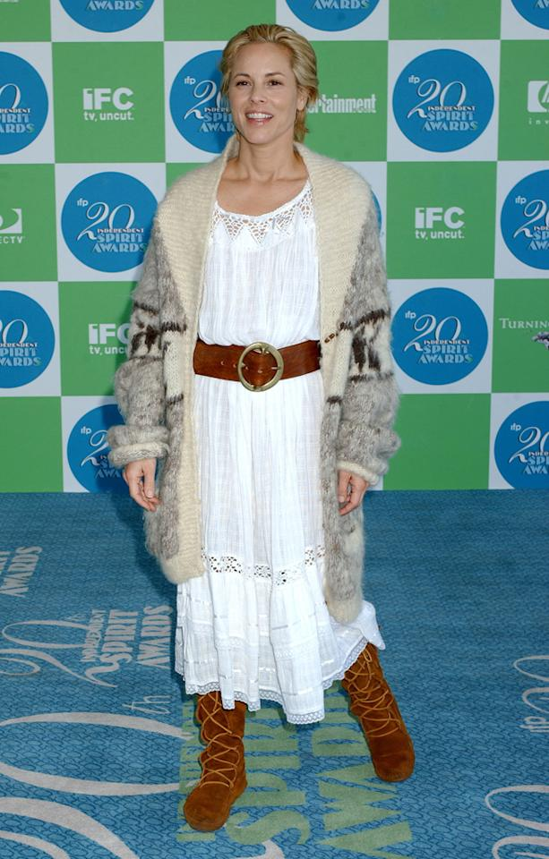 Maria Bello, 2005<br><br>Appropriate for a Renaissance faire, not the Indie Spirit Awards.