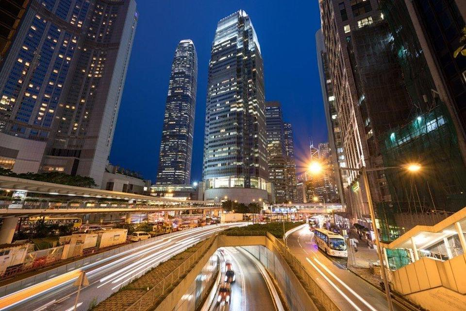 Hong Kong's Central business district, with the IFC One (centre) and IFC Two (left) buildings. Photo: Getty Images