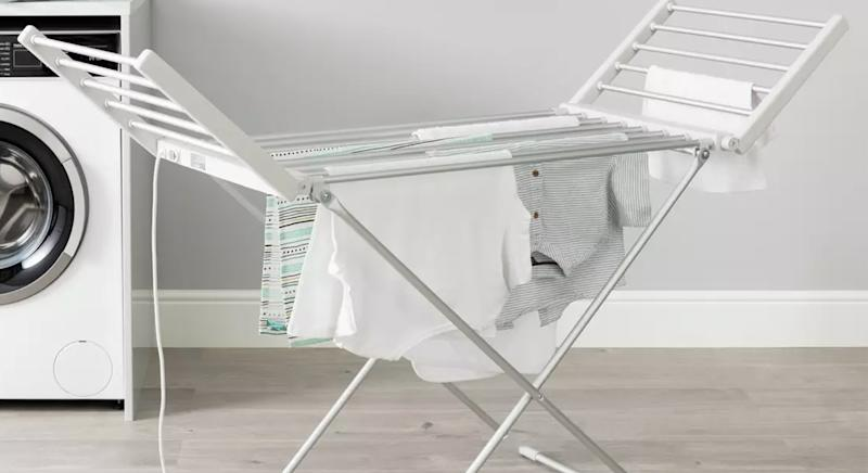Argos' Heated Electric Indoor Clothes Airer has received glowing reviews to make your laundry days easier. (Argos)