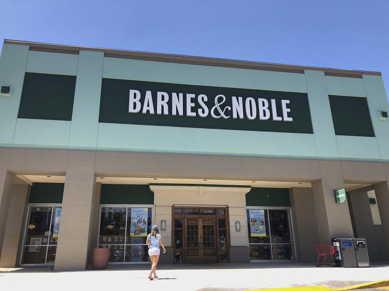 A Barnes and Noble bookstore store front is seen on Tuesday, May 28, 2019, in Pembroke Pines, Fla. (AP Photo/Brynn Anderson)