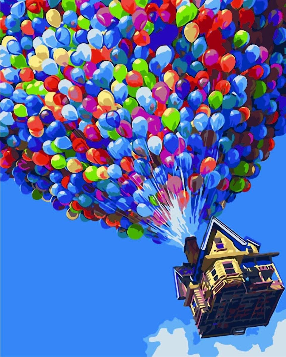 """<br><br><strong>Komking</strong> Paint by Numbers, Colorful Balloon 16x20inch, $, available at <a href=""""https://amzn.to/2WWvs7x"""" rel=""""nofollow noopener"""" target=""""_blank"""" data-ylk=""""slk:Amazon"""" class=""""link rapid-noclick-resp"""">Amazon</a>"""