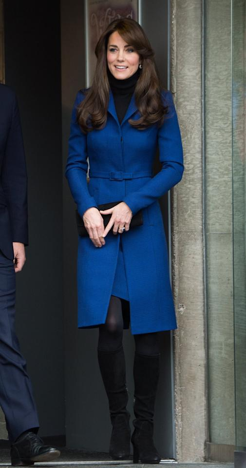 <p>When royal duty beckons, Kate trusts Christopher Kane to deliver fashionable coats that have the queen's approval. </p>