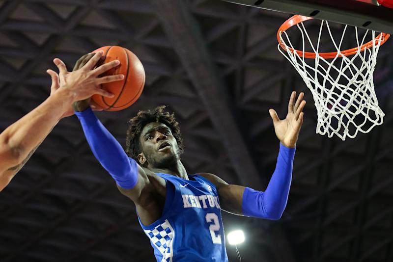 After just 18 games, Kentucky freshman Kahlil Whitney is leaving the program. (Carmen Mandato/Getty Images)