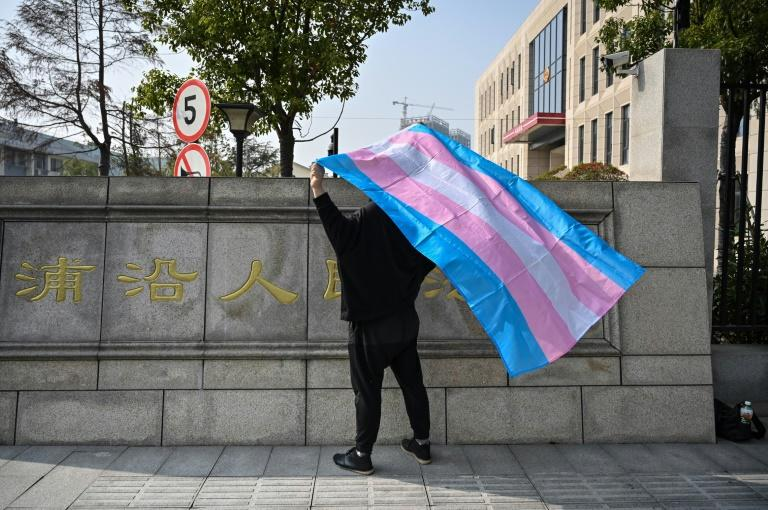 Yang, who asked that her full name not be used to avoid prejudicing her case, says transgenders still find acceptance to be elusive in China (AFP Photo/HECTOR RETAMAL)