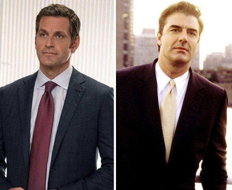 Charles (Peter Hermann) and Mr. Big (Chris Noth). (Photos: TV Land, HBO)