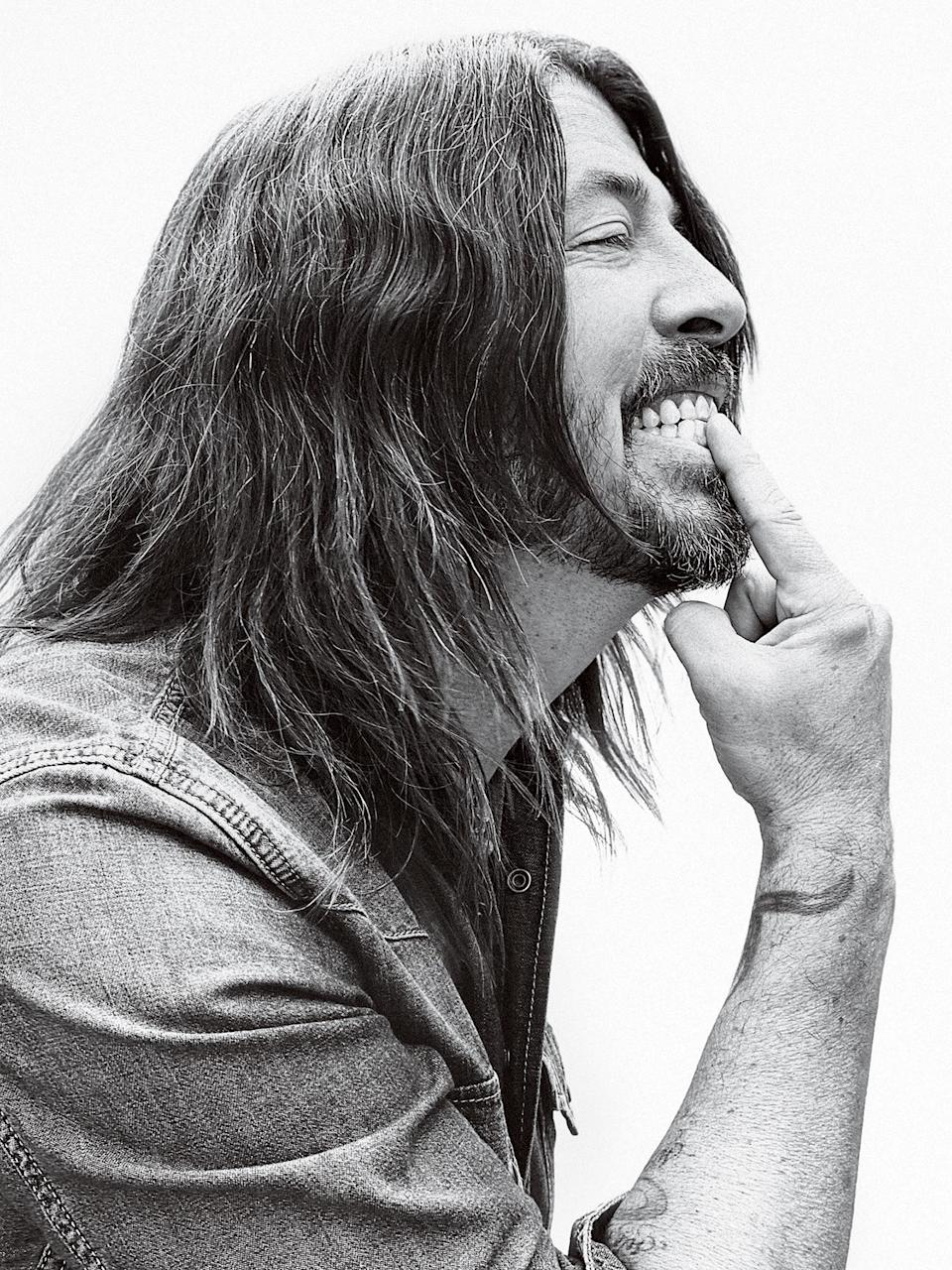 Dave Grohl, photographed in Los Angeles on June 10th, 2021. - Credit: Photograph by Jason Nocito for Rolling Stone