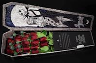"""<p>Want to celebrate Valentine's Day with a little bit of <a class=""""link rapid-noclick-resp"""" href=""""https://www.popsugar.co.uk/Halloween"""" rel=""""nofollow noopener"""" target=""""_blank"""" data-ylk=""""slk:Halloween"""">Halloween</a> and Christmas thrown in? Then the <span><strong>The Nightmare Before Christmas</strong> flower box</span> ($205) (that's shaped like a coffin!) is the perfect pick. It comes with 20 roses in either red or white.</p>"""