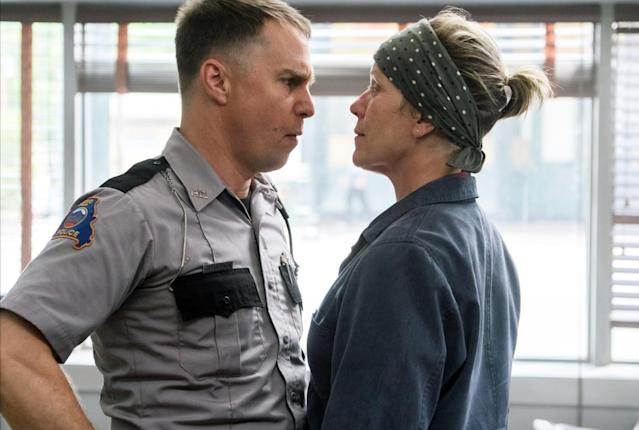 Sam Rockwell as Dixon with Frances McDormand in a scene from the film <em>Three Billboards Outside Ebbing, Missouri.</em> (Photo: Merrick Morton/20th Century Fox)