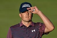 Jordan Spieth dropped two shots in his final two holes on Saturday to damage his quest for the Claret Jug