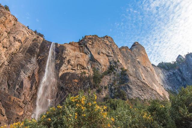 <p>Bridalveil Fall in Yosemite Valley, Yosemite National Park, Calif. (Photo: Jorge Villalba/E+/Getty Images) </p>
