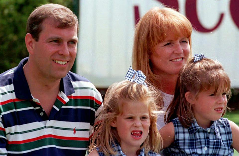 Prince Andrew, Sarah, Duchess of York, Princesses Eugenie and Beatrice - Credit: ASSOCIATED PRESS.