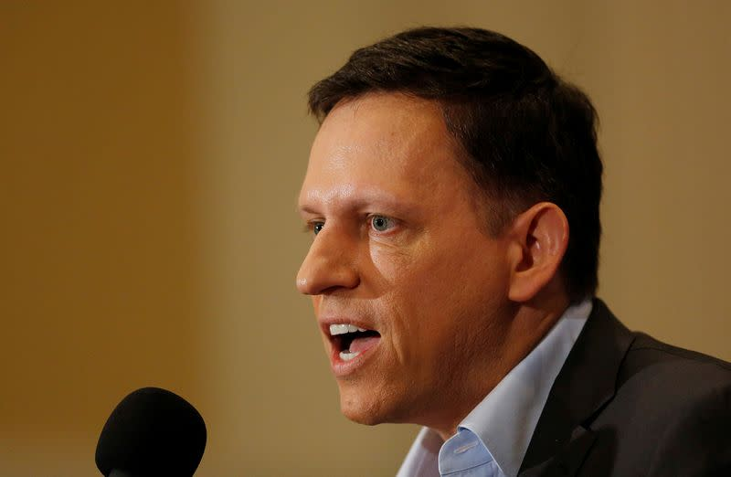 PayPal co-founder and Facebook board member Thiel delivers speech on US presidential election at the National Press Club in Washington
