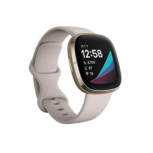 "<p><strong>Fitbit</strong></p><p>amazon.com</p><p><strong>$329.95</strong></p><p><a href=""https://www.amazon.com/dp/B08DFLG5SP?tag=syn-yahoo-20&ascsubtag=%5Bartid%7C2089.g.362%5Bsrc%7Cyahoo-us"" rel=""nofollow noopener"" target=""_blank"" data-ylk=""slk:Shop Now"" class=""link rapid-noclick-resp"">Shop Now</a></p><p>Fitbit's latest smartwatch not only has the standard fitness tracking metrics, but it also has ECG and SpO2 apps, a skin temperature sensor, and an EDA (electrodermal) scan app to help to gauge your mood — all features that might be especially important to people who are especially health-conscious heading into cold and flu season.</p>"