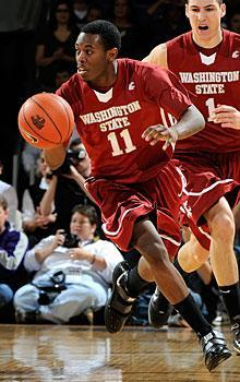Xavier Thames averaged 4.6 points and 1.2 assists for Washington State in 2009-10
