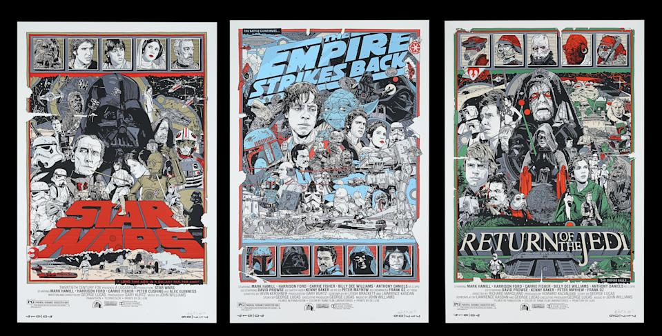 <p>STAR WARS ORIGINAL TRILOGY (1977-83) - Set of Three Artist Proof Mondo Posters, 2010 est. £2,000 - £3,000(Prop Store)</p>