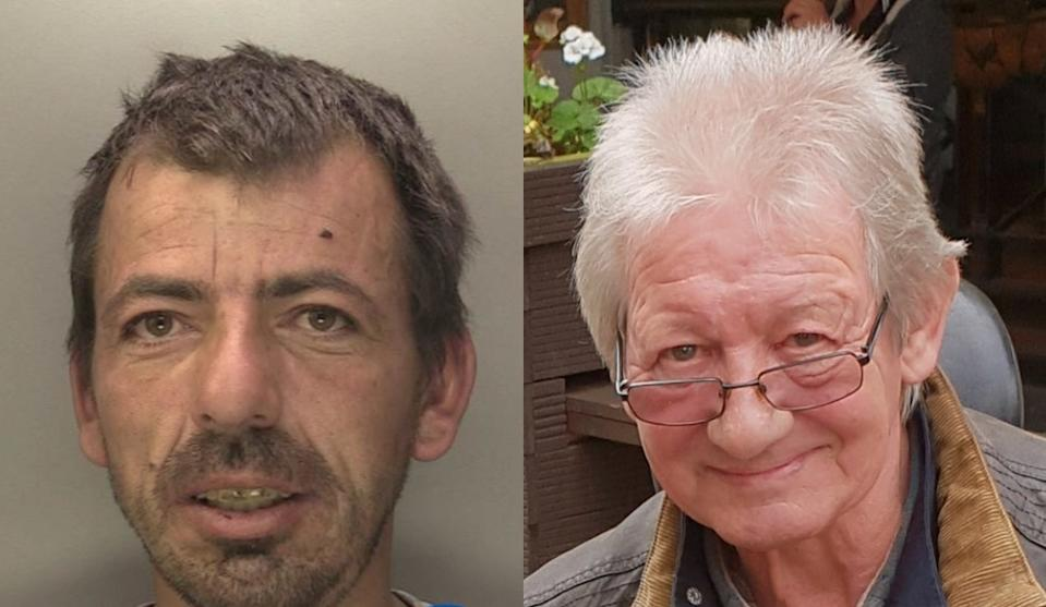 Richard Newing, 43, (L) admitted setting the blaze that killed 69-year-old Malcolm Turner. (SWNS)