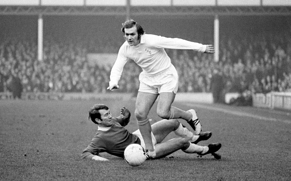Cooper leaves Everton's Howard Kendall in his wake at Goodison Park in 1972 - Peter Robinson/EMPICS Sport