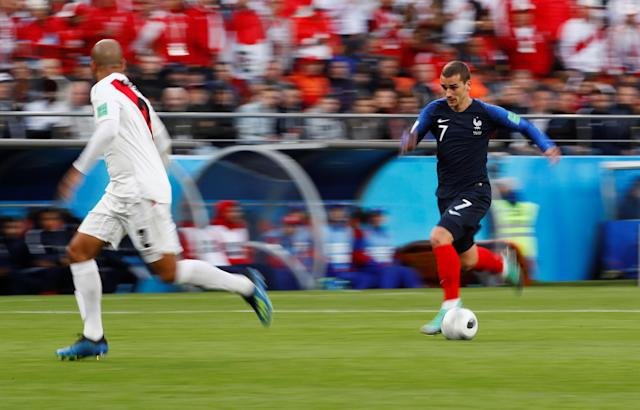 Soccer Football - World Cup - Group C - France vs Peru - Ekaterinburg Arena, Yekaterinburg, Russia - June 21, 2018 France's Antoine Griezmann in action REUTERS/Jason Cairnduff