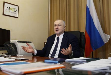 Russian Anti-Doping Agency (RUSADA) Director General Yuri Ganus speaks during an interview at his office in Moscow, Russia March 28, 2018. Picture taken March 28, 2018. REUTERS/Maxim Shemetov