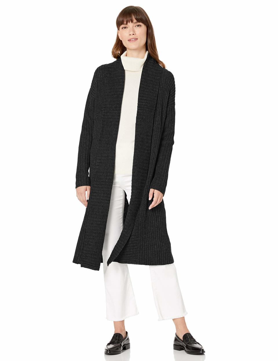 "<br><br><strong>Amazon Essentials</strong> Oversized Open Front Knee Length Sweater Coat, $, available at <a href=""https://amzn.to/2GOQOy7"" rel=""nofollow noopener"" target=""_blank"" data-ylk=""slk:Amazon Fashion"" class=""link rapid-noclick-resp"">Amazon Fashion</a>"