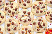 "<p>There's no shortage of potatoes in this state, so it's no surprise that they manage to make their way into some desserts. Those who love sweet-and-salty combinations won't be able to get enough of a batch of potato chip cookies. For a holiday spin, try making these Santa's Trash cookies.</p><p>Get the recipe from <a href=""https://www.delish.com/cooking/recipes/a50432/santas-trash-cookies-recipe/"" rel=""nofollow noopener"" target=""_blank"" data-ylk=""slk:Delish"" class=""link rapid-noclick-resp"">Delish</a>.</p>"