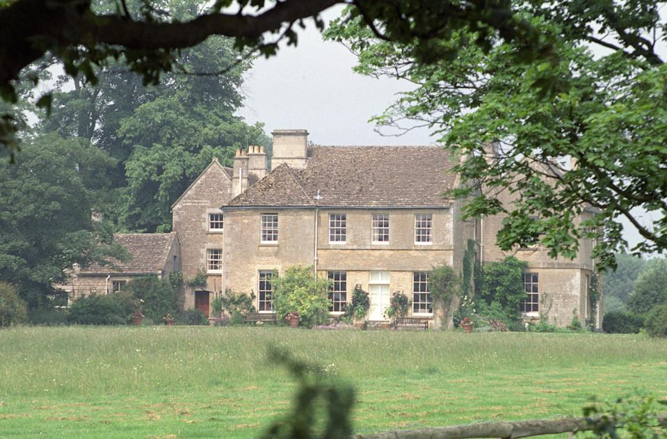PAP 13: LONDON: 10.01.95: Library file 253158-14 dated 6.6.92 of Middlewick House at Corsham,  Wiltshire, the home of Camilla Parker Bowles and her husband Andrew. The couple are to divorce by mutual  consent, solicitors said today (Tuesday) and Mrs parker Bowles is to retain Middlewick House while her  husband moves elsewhere, a relative said. See PA Story ROYAL Camilla. PA NEWS,  Barry Batchelor/gm.   (Photo by Barry Batchelor - PA Images/PA Images via Getty Images)