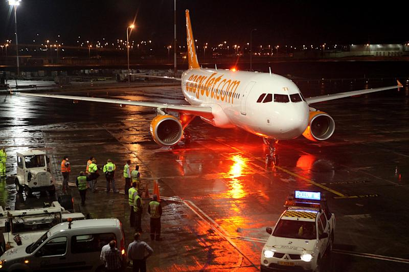 EasyJet has grounded 234 flights to and from the UK on Saturday – affecting at least 40,000 passengers: Getty Images