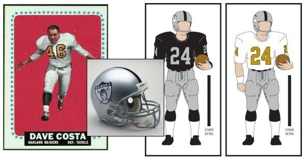 quality design 284ab a123e A look at the AFL legacy uniforms: The 1963 Oakland Raiders