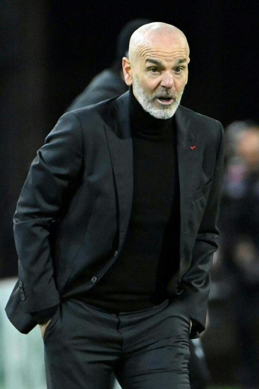In pole position: Stefano Pioli's AC Milan are three points ahead of city rivals Inter.