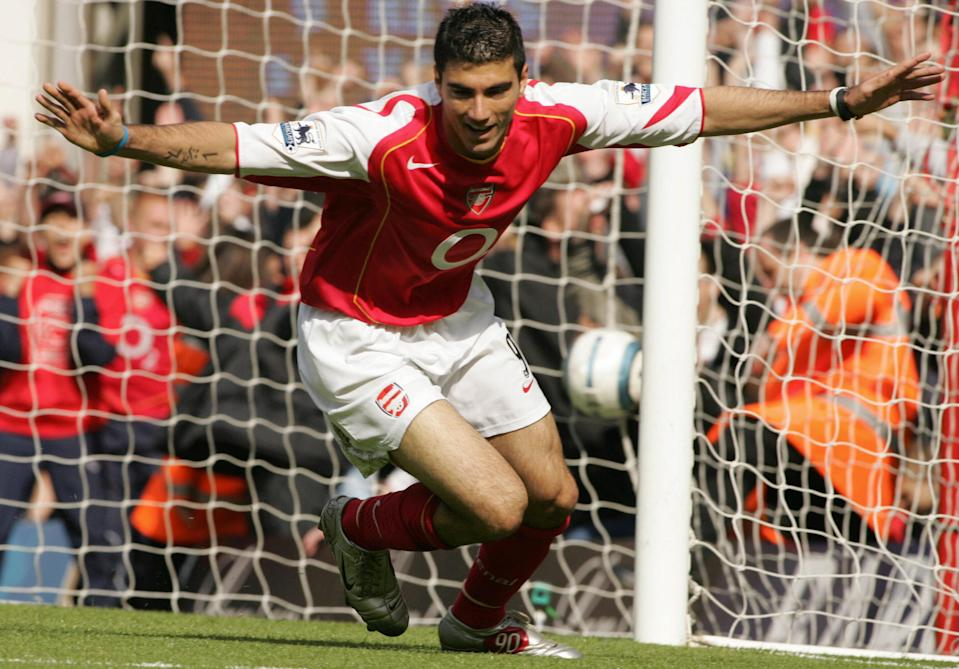 Reyes celebrates a goal for Arsenal (CARL DE SOUZA/AFP/Getty Images)