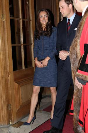 Kate Middleton Wears Blue Tweed To Honour The Scott-Amundsen Centenary Race Today