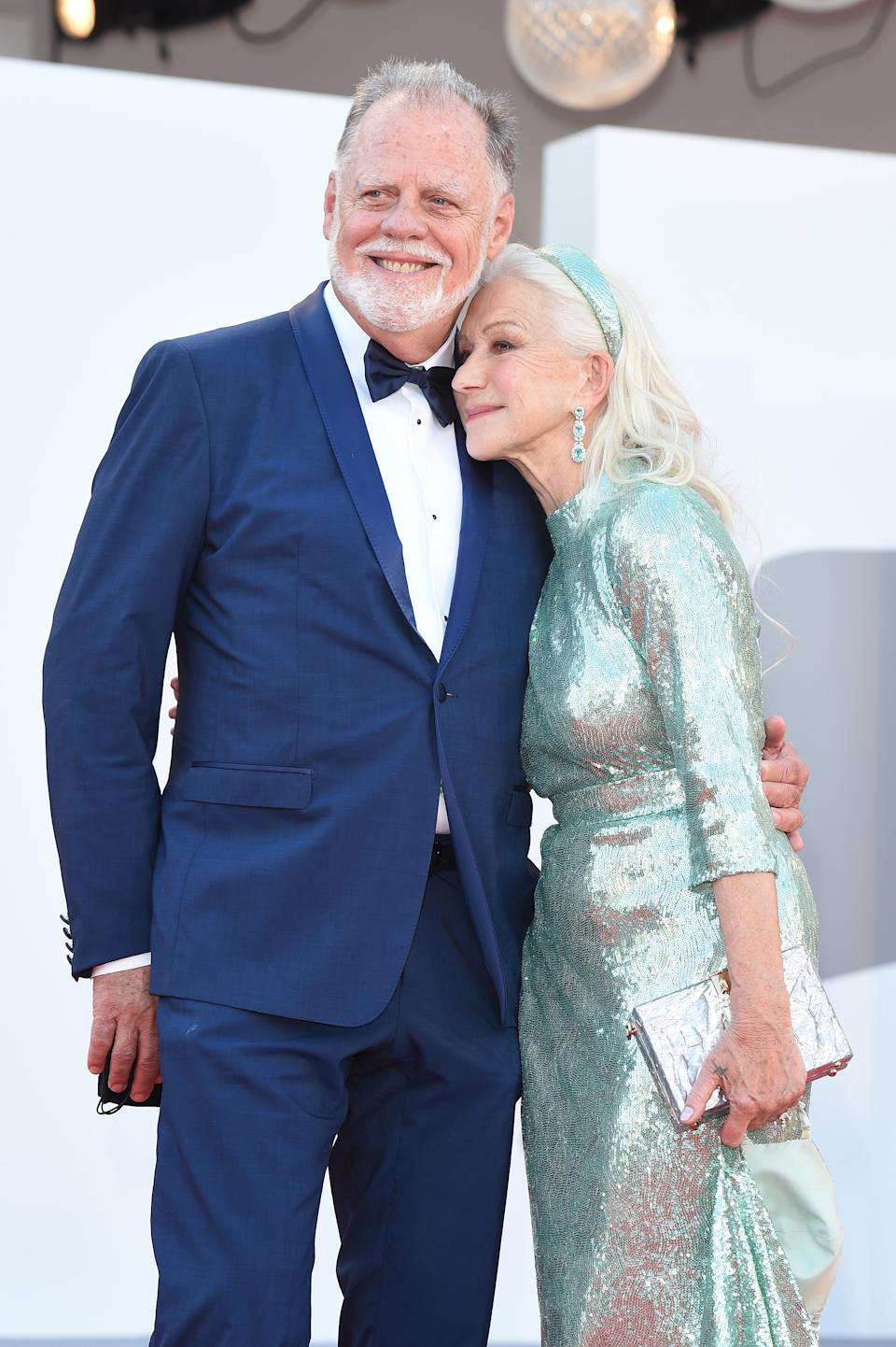 VENICE, ITALY - SEPTEMBER 01:   Taylor Hackford and Helen Mirren attend the red carpet of the movie