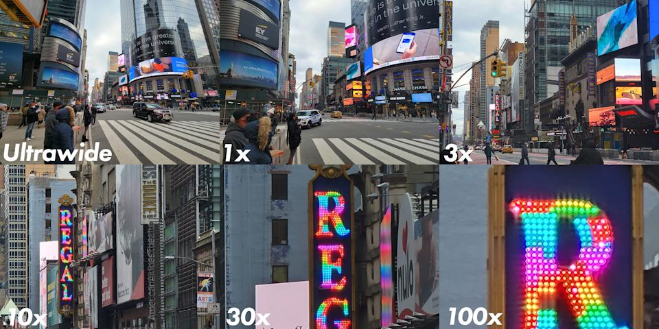 Samsung Galaxy S21 Ultra zoom comparison
