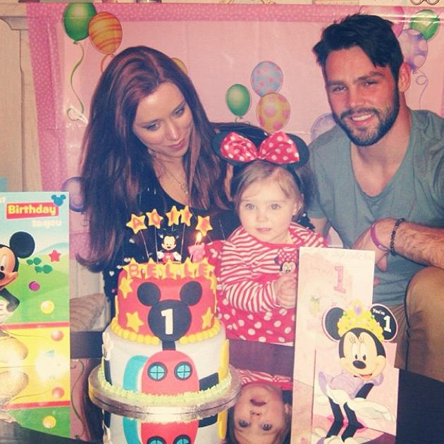 Celebrity Twitpics: The Saturdays' Una Healy and her husband, rugby player Ben Foden, celebrated their daughter's first birthday this week. Here, the family pose for a photo together, which Una then tweeted. Copyright [Una Healy]