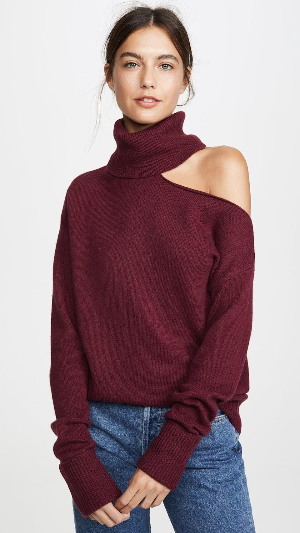 <p>Show off your shoulder in this <span>PAIGE Raundi Sweater</span> ($259).</p>