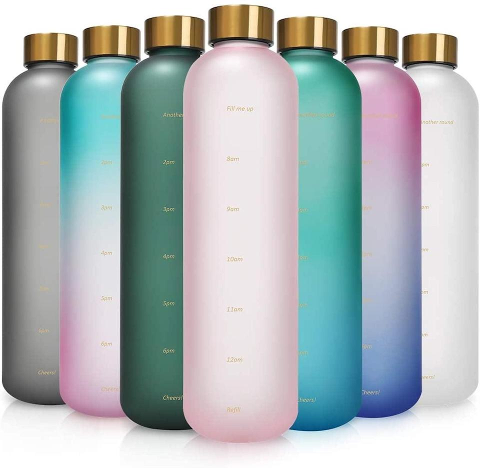 <p>The <span>Opard Motivational Water Bottle with Time Marker </span> ($19) comes in seven sleek and gorgeous designs and colors so you can stay hydrated in style.</p>