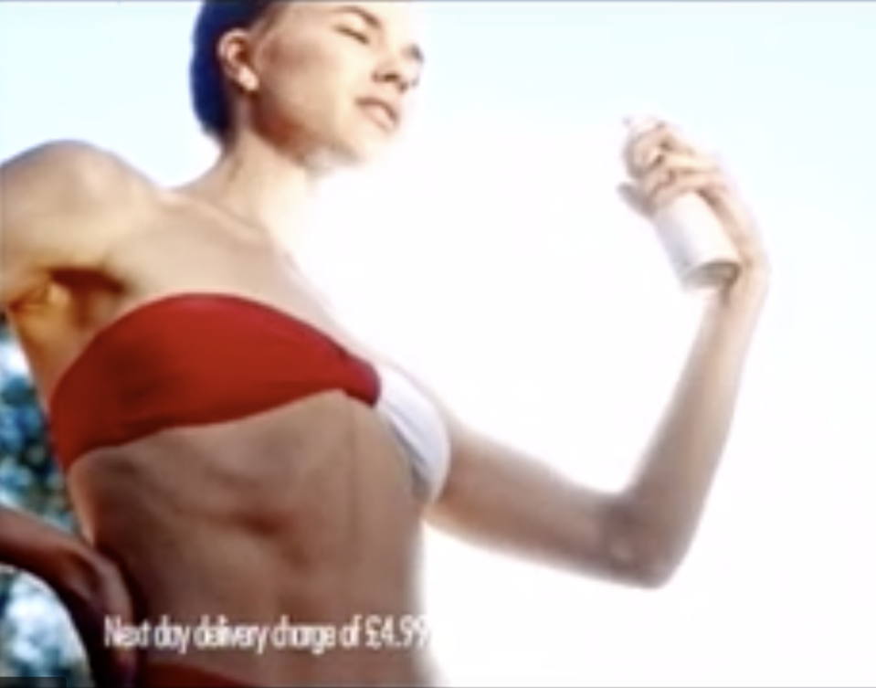 This Nasty Gal ad sparked complaints about the model's slim figure. (Photo: Nasty Gal)