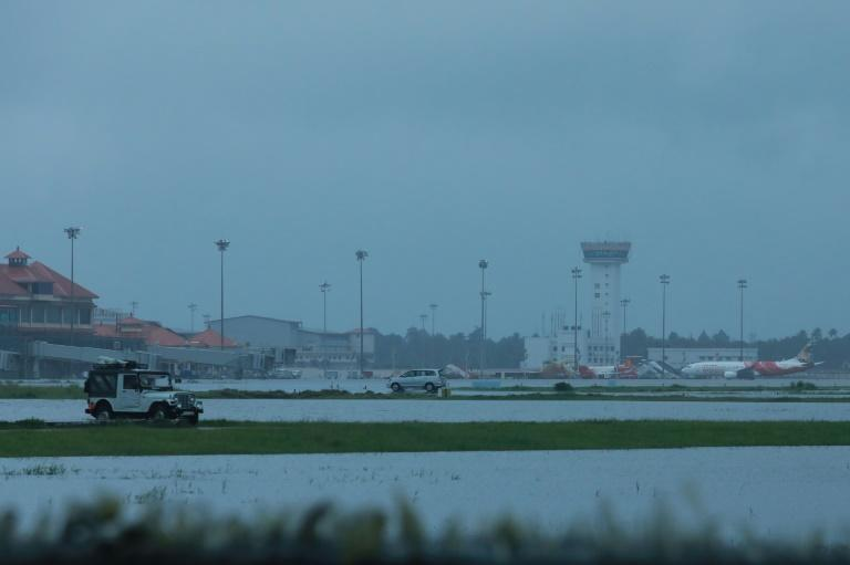 Kochi International Airport was flooded following the rains, prompting the authorities to suspend flights