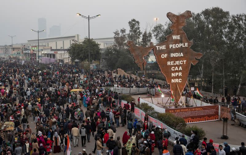India's New Delhi heads to vote amid protests against citizenship law