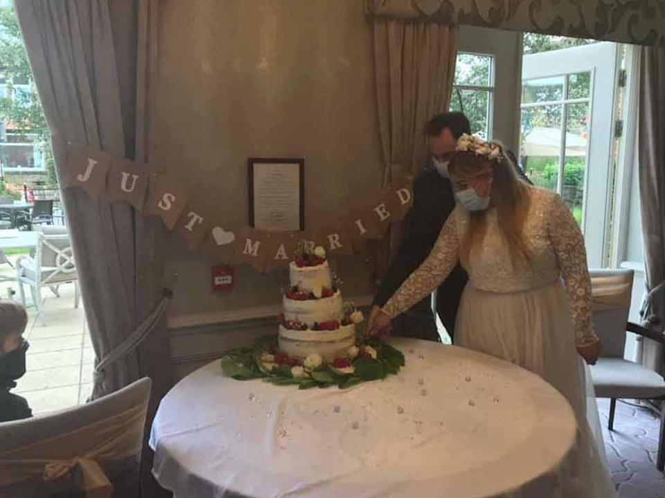 Katie was thrilled when the care home she worked threw her a wedding blessing so the residents could attend her big day (Collect/PA Real Life).