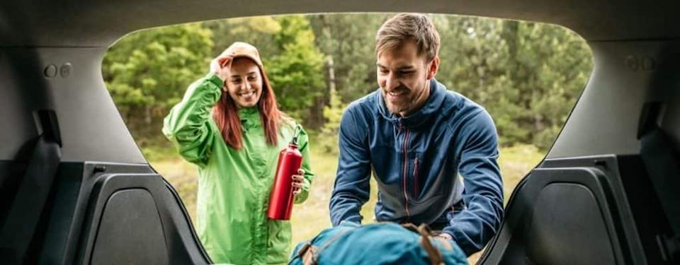 Packing camping equipment
