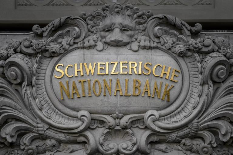 A sign for the Swiss National Bank headquarters in Bern, October 14, 2014