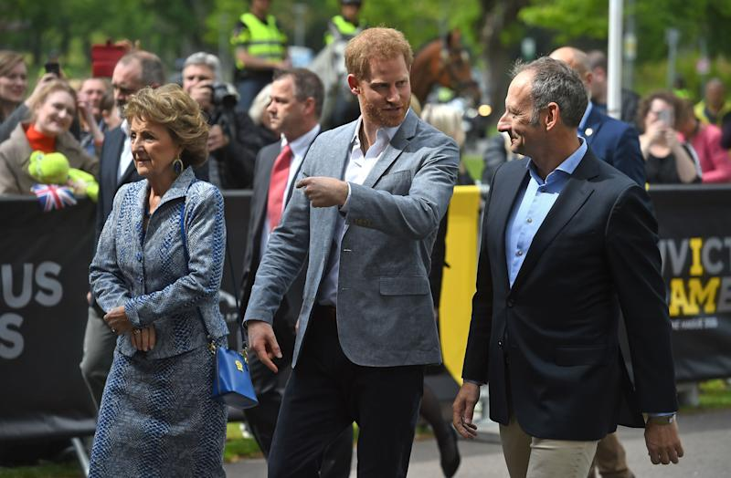 The Duke of Sussex arriving for one day visit to Amsterdam in the Netherlands [Photo: PA]
