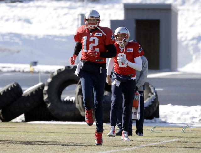 New England Patriots quarterbacks Tom Brady (12) missed practice on Wednesday and Thursday. (AP)