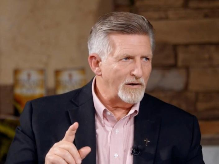 <p>Right-wing broadcaster Rick Wiles has been hospitalised with Covid-19 after saying that vaccines would wipe out 'stupid people'</p> (TruNews)