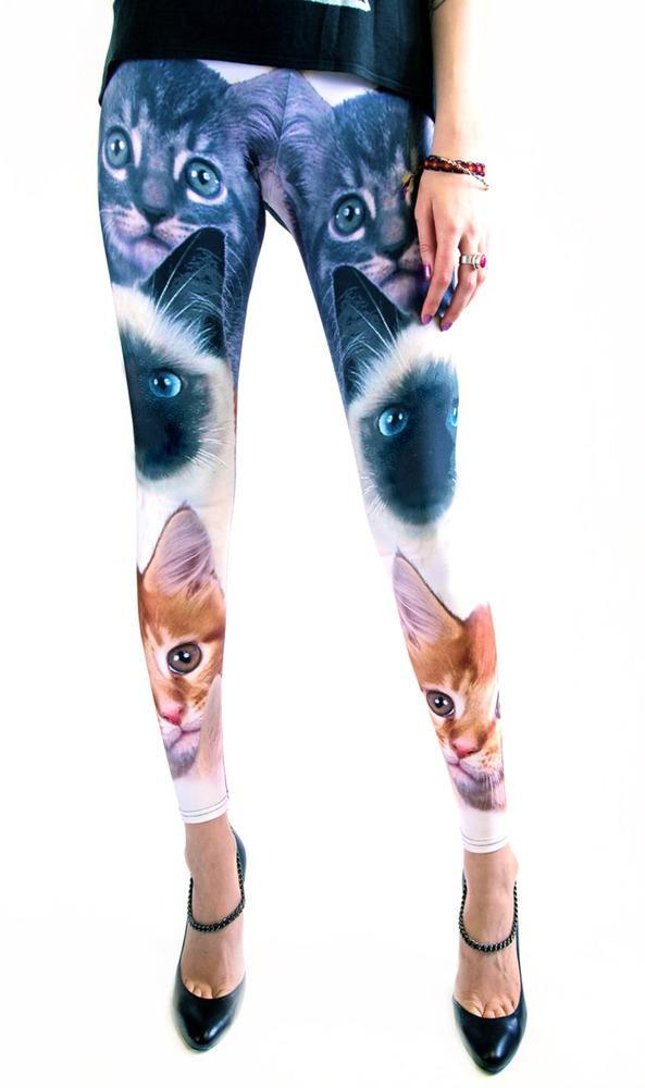 """<div class=""""caption-credit""""> Photo by: shop.someproductapparel.com</div><div class=""""caption-title"""">Cat Leggings, $75</div>Remember the good old days when watching crazy cat videos was enough? Now we're wearing them on their legs. <br>"""