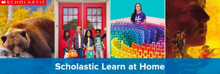 """A screenshot of the """"Scholastic Lean at Home"""" website"""